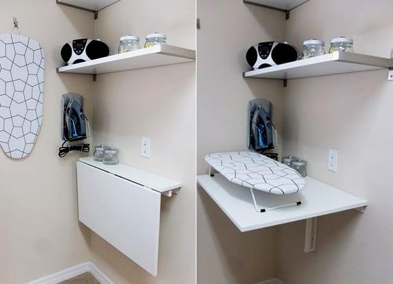 enge und kleine raeume einrichten mit modernem klapptisch klaptisch selber bauen fuer den. Black Bedroom Furniture Sets. Home Design Ideas