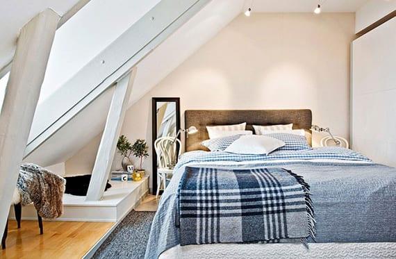 Wunderbar Das Kleine Schlafzimmer In Dachgeschosswohnung Die Vorteile Unterm