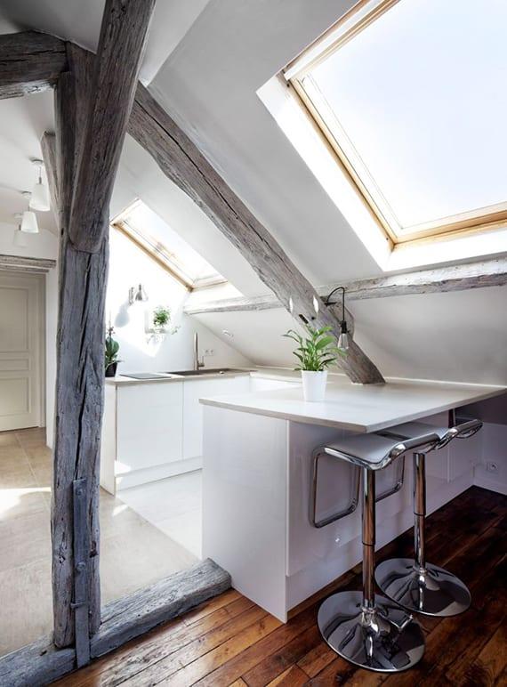die-kleine-kueche-in-dachgeschosswohnung-die-vorteile ...