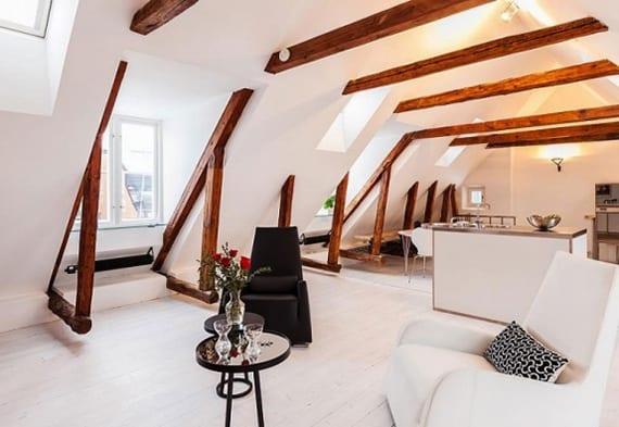 Moderne Dachgeschosswohnung Mit Sichtbarer Holzdachkonstruktion Die Vorteile  Unterm