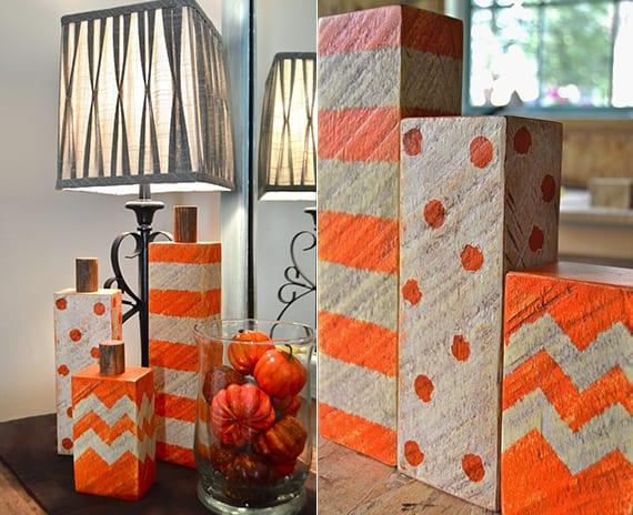 6 einfache herbst bastelideen herbstdeko basteln mit holz freshouse. Black Bedroom Furniture Sets. Home Design Ideas