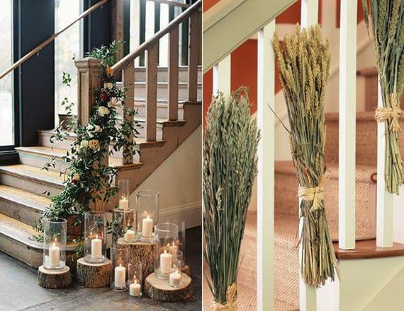 wunderschoene und einfache herbstdeko basteln fuer treppen freshouse. Black Bedroom Furniture Sets. Home Design Ideas