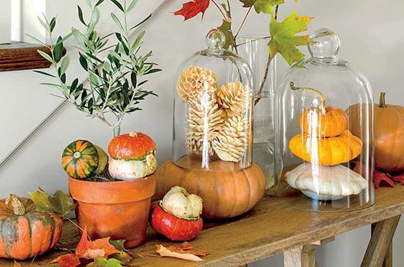 Hochwertig Wunderschoene Und Einfache Herbstdeko Basteln Fuer Sideboard Dekoration