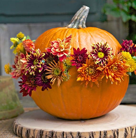 Wunderschoene Und Einfache Herbstdeko Basteln Mit Kuerbis