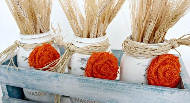 Wunderschöne und einfache Herbstdeko basteln