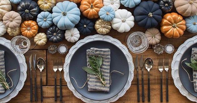 Eine herbstliche und festliche Dekoration zu Thanksgiving