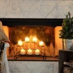 wohnzimmer romantisch dekorieren mit kerzen_weihnachts dekoideen