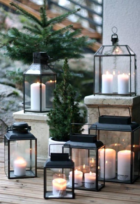 kerzen dekoideen fuer mehr romantik in den kalten wintertagen winterliche terrassengestaltung. Black Bedroom Furniture Sets. Home Design Ideas