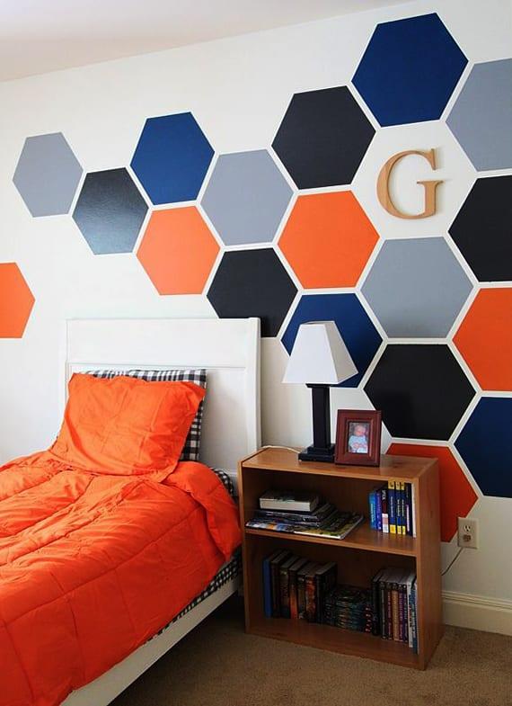 Sechseck Wandmuster Ideen Fuer Eine Tolle Wandgestaltung Kinderzimmer