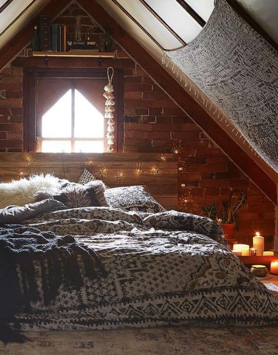 schlafzimmer kerzen, wie-laesst-sich-im-winter-ein-schlafzimmer-gemuetlich-gestalten-mit, Design ideen