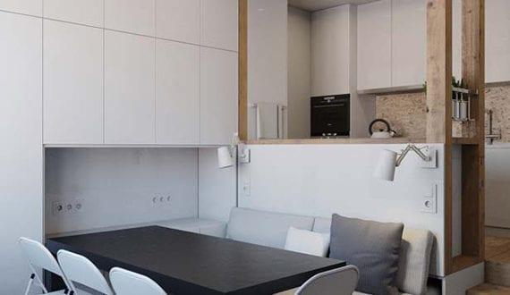 Kleines multifunktionales city apartment mit kleinem for Kleines wohnzimmer mit esstisch