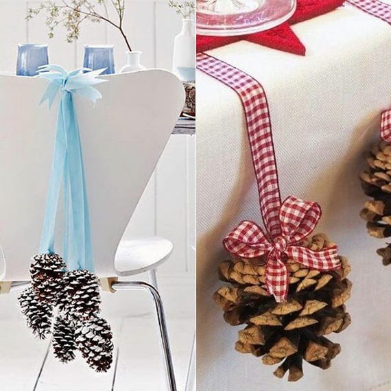coole diy ideen fuer winterdeko mit nadelbaeume zapfen tosch und stuehle weihnachtlich. Black Bedroom Furniture Sets. Home Design Ideas