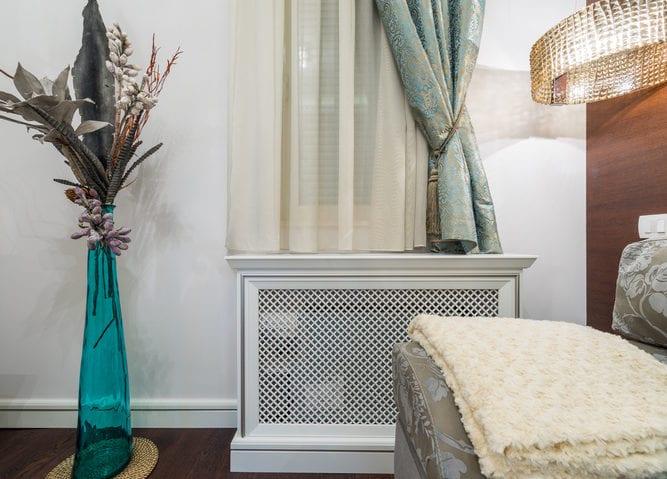 Wooden cover for radiator freshouse
