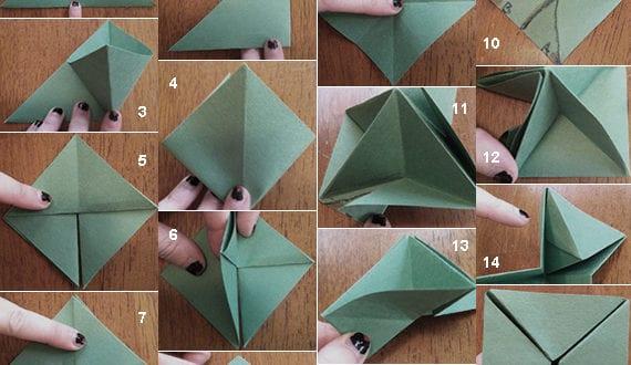 origami tannenbaum falten lernen anleitung fuer origami. Black Bedroom Furniture Sets. Home Design Ideas
