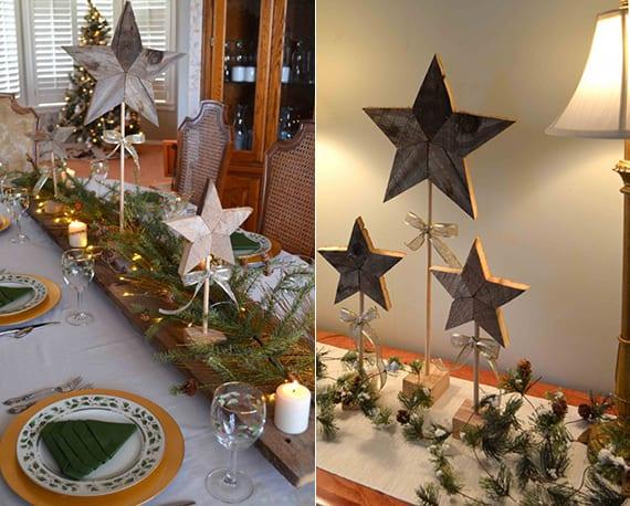Stern Aus Holz Basteln Fuer Festliche Tischdeko Zu Weihnachten