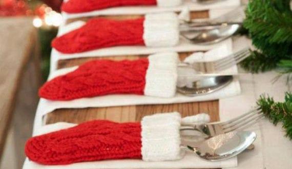 Tisch originell eindecken zu weihnachten mit for Tisch design servietten