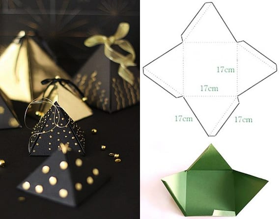 Geschenkbox pyramide