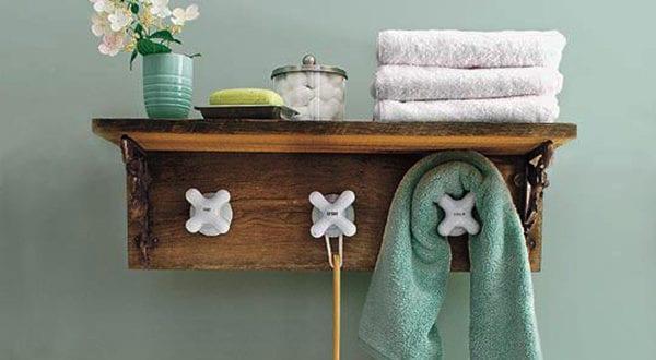 Bad In Ordnung Halten: Hand  Und Badetücher Organisieren