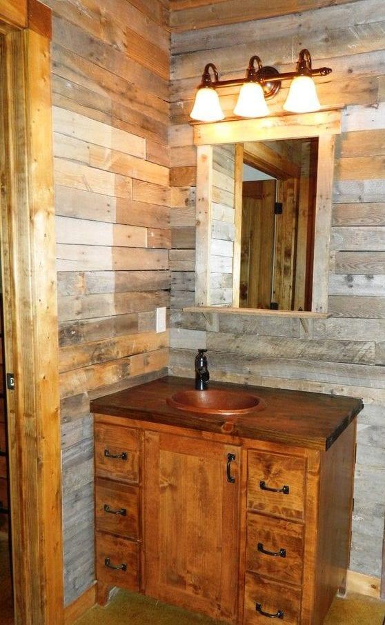 Badezimmer Wandgestaltung Ideen mit Paletten - fresHouse