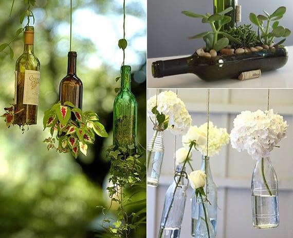 Inspirierende Bastel Und Upcycling Ideen Mit Weinflaschen Fuer