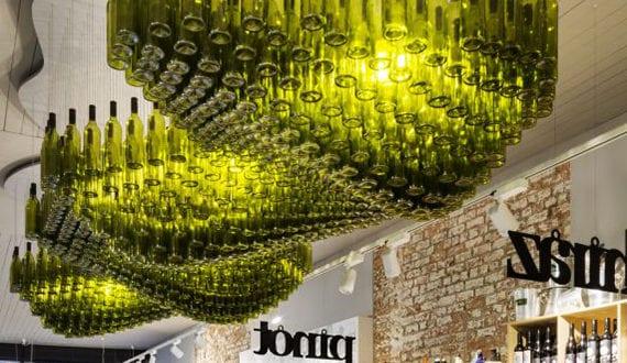 ideen fur deckengestaltung, inspirierende-bastel-und-upcycling-ideen-mit-weinflaschen-fuer, Design ideen