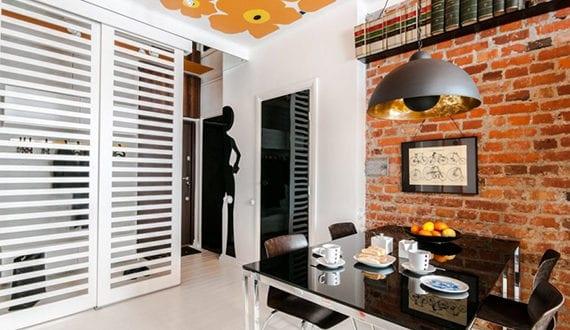 Moderne Wohnungseinrichtung moderne wohnung im zeitgeist der 60er jahren bunte farbgestaltung