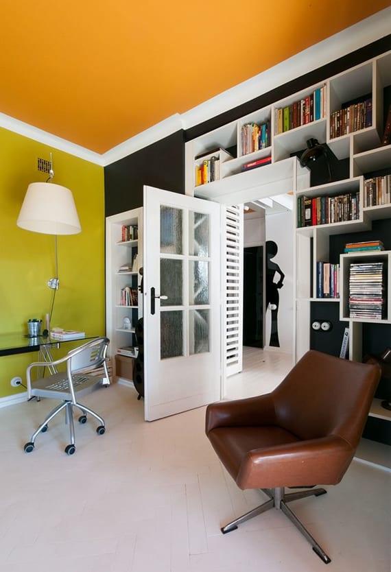 Moderne Wohnung Im Zeitgeist Der 60er Jahren_kreative Wandgestaltung