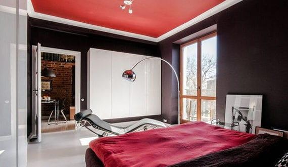 moderne wohnung im zeitgeist der 60er jahren schlafzimmer farbgestaltung mit wandfarbe. Black Bedroom Furniture Sets. Home Design Ideas