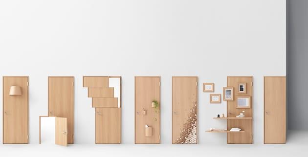 Eine t r mit kreativem design und weiterer funktion for Design und funktion