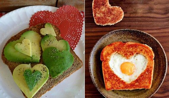 Valentinstag-Menü-Ideen-für-romantisches-Frühstück-mit-toast-in ...
