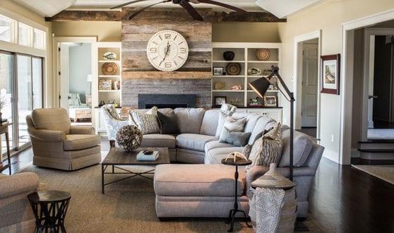 Wandgestaltung Ideen mit Paletten für Akzentwand im wohnzimmer ...
