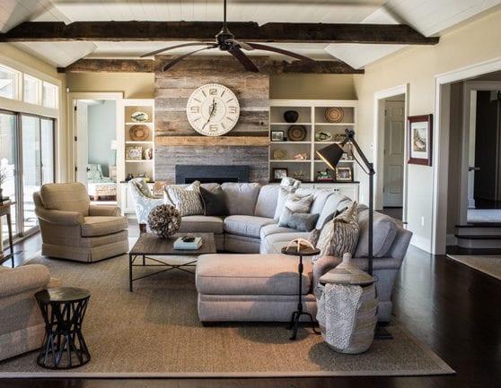 Wandgestaltung Ideen Mit Paletten Für Akzentwand Im Wohnzimmer