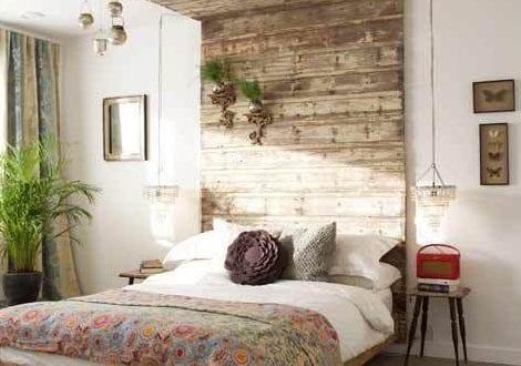 Shabby Chic Schlafzimmer wandgestaltung ideen mit paletten für schlafzimmer in shabby chic