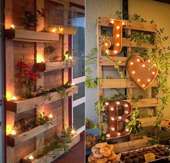 wandgestaltung ideen mit paletten pflanzen und leuchten freshouse. Black Bedroom Furniture Sets. Home Design Ideas