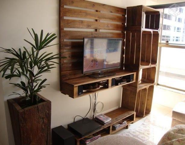 Wandgestaltung ideen mit paletten und holzkisten freshouse - Holzkisten wand ...