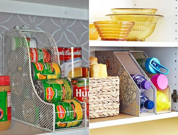 dosen und flaschen organisieren und k chenschr nke in ordnung halten mittels. Black Bedroom Furniture Sets. Home Design Ideas