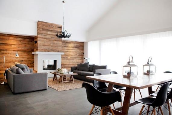 Moderne Wohnzimmer Wandgestaltung Ideen Mit Paletten