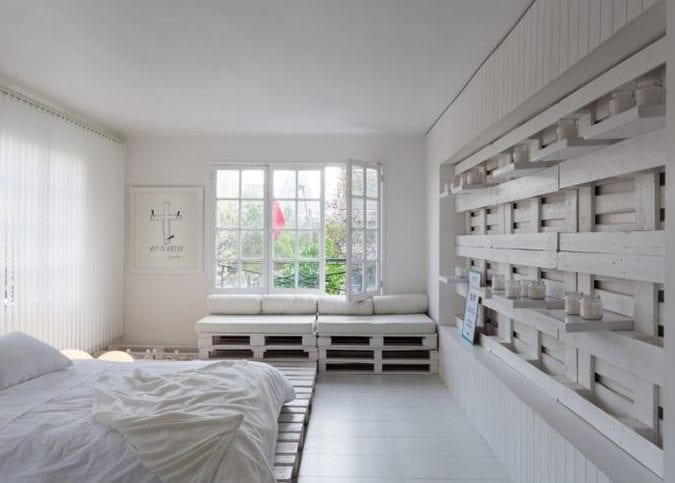 Entzuckend Wandgestaltung Ideen Mit Paletten Im Schlafzimmer