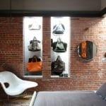 stilvolle raumgestaltung durch ziegel für modernes Schlafzimmer Interieuer