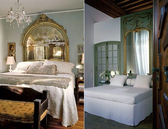 Schlafzimmer-gestalten-im-klassischen-Stil-mit-Spiegel-Bett-Kopfteil ...