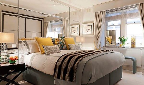 Schlafzimmer-gestalten-mit-Spiegel-Bett-Kopfteil_coole ...