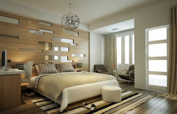Schlafzimmer-Gestalten-Mit-Spiegel-Bett-Kopfteil_Moderne