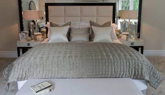 Schlafzimmer Gestalten Und Dekorieren Mit Spiegel Bett Kopfteil