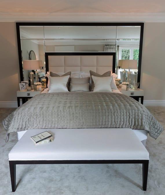 Schlafzimmer gestalten und dekorieren mit spiegel bett - Hochzeit schlafzimmer dekorieren ...