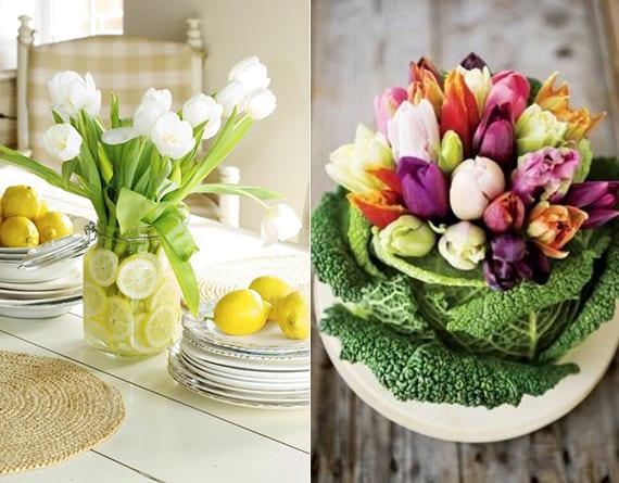 coole blumendeko im fr hling mit tulpen f r frische raumgestaltung freshouse. Black Bedroom Furniture Sets. Home Design Ideas