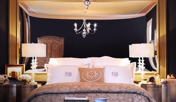 luxuri se schlafzimmer gestalten mit spiegel bett kopfteil freshouse. Black Bedroom Furniture Sets. Home Design Ideas