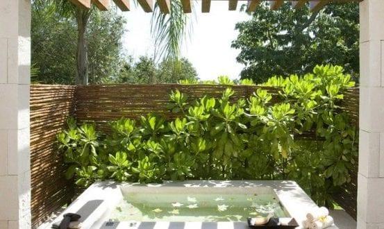 Belebende garten und terrassengestaltung mit kleinemtauchbecken und pergola freshouse - Garten und terrassengestaltung ...