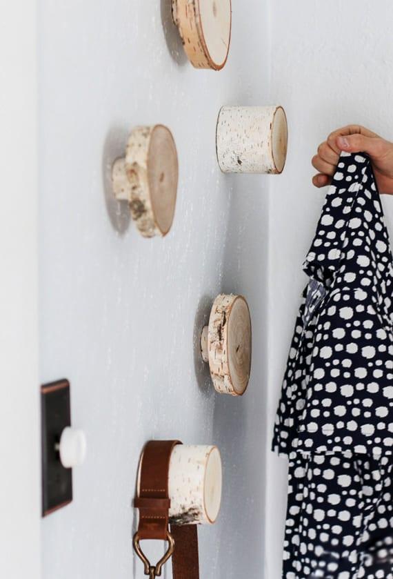 DIY Wandhacken Aus Holzscheiben Zum Ordnen Und Dekorieren_coole
