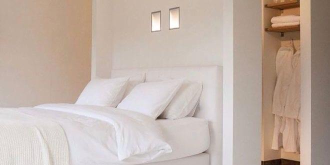 wohnideen schlafzimmer ein begehbarer kleiderschrank hinter dem bett machen freshouse. Black Bedroom Furniture Sets. Home Design Ideas