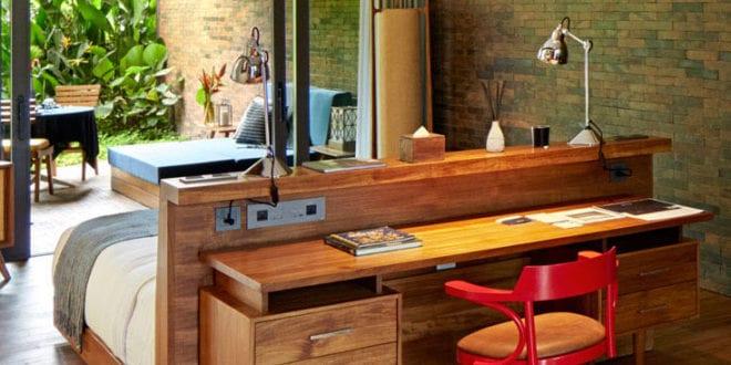 Wohnideen-Schlafzimmer-mit-Schreibtisch-hinterm-Bett - fresHouse